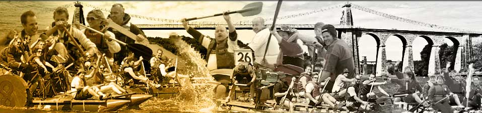Montage of raft racers